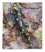 Fire Salamander Fleece Blanket