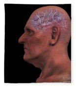 Geriatric Brain Fleece Blanket