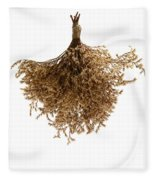 Hanging Dried Flowers Bunch Fleece Blanket