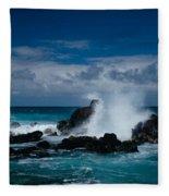 Hookipa Maui North Shore Hawaii Fleece Blanket