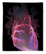 Human Heart Fleece Blanket