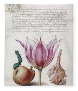 Illuminated Manuscript Fleece Blanket