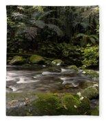 Jungle Stream Fleece Blanket