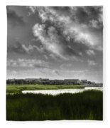 Southern Tall Marsh Grass Fleece Blanket