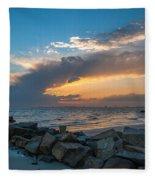 Sc Lowcountry Sunset Fleece Blanket