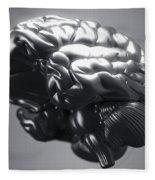 Metallic Brain Fleece Blanket