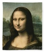 Mona Lisa Fleece Blanket