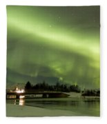 Northern Lights Iceland Fleece Blanket