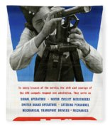 Poster Women Workers Fleece Blanket