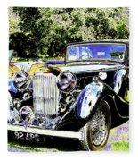 Psychedelic Classic Lagonda Fleece Blanket