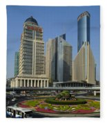 Pudong Skyline Fleece Blanket