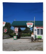 Route 66 Sinclair Station Fleece Blanket