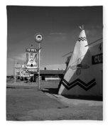 Route 66 - Tucumcari New Mexico Fleece Blanket