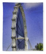 Singapore Flyer  Fleece Blanket
