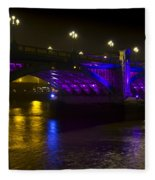 Southwark Bridge London Fleece Blanket