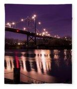 Suspension Bridge Fleece Blanket