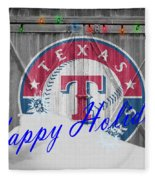 Texas Rangers Fleece Blanket