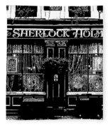 The Sherlock Holmes Pub Fleece Blanket
