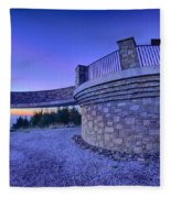 Top Of Mount Mitchell Before Sunset Fleece Blanket