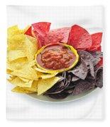 Tortilla Chips And Salsa Fleece Blanket
