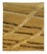Tracks In Field Fleece Blanket