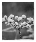 Winter Flowers Fleece Blanket