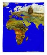 Modern World Map  Fleece Blanket