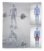Exercise Workout Fleece Blanket