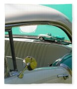 #766 D86 Mini Holiday Oldsmobile Antique Cars  Fleece Blanket