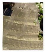 #775 D138 Cake All White  Fleece Blanket