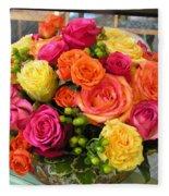 #790 D300 Roses Super Bright Fleece Blanket