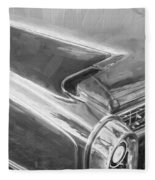 1960 Cadillac Eldorado Biarritz Convertible Painted Bw    Fleece Blanket