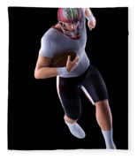 American Football Player Fleece Blanket