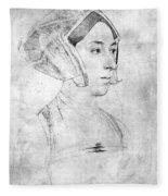Anne Boleyn (1507-1536) Fleece Blanket
