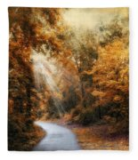 Late Autumn Trail Fleece Blanket