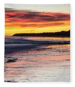Bamburgh Castle At Sunrise Fleece Blanket