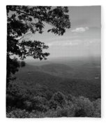 Blue Ridge Mountains - Virginia Bw Fleece Blanket