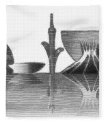 Brasilia Skyline Fleece Blanket