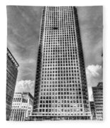 Canary Wharf Tower Fleece Blanket