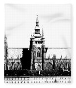 Cathedral Of St Vitus Fleece Blanket