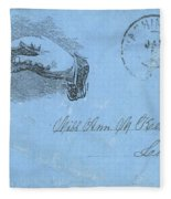 Civil War Letter, C1863 Fleece Blanket