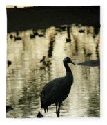 Common Cranes At Gallocanta Lagoon Fleece Blanket