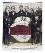 Death Of Lincoln, 1865 Fleece Blanket