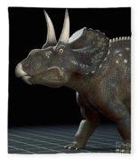 Dinosaur Diceratops Fleece Blanket