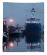 Early Morning In Portland, Maine Fleece Blanket
