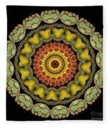 Kaleidoscope Ernst Haeckl Sea Life Series Fleece Blanket