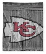 Kansas City Chiefs Fleece Blanket by Joe Hamilton
