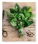 Kitchen Herbs Fleece Blanket