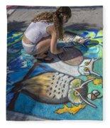 Lake Worth Street Painting Festival Fleece Blanket