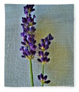 Lavender On Linen Fleece Blanket